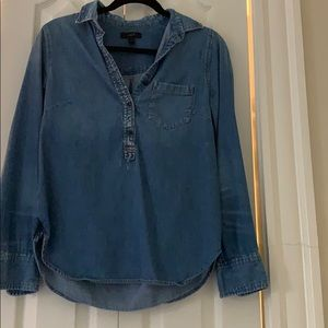 J Crew denim pullover top